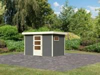 Karibu Woodfeeling Gartenhaus Oburg 4 terragrau 19 mm