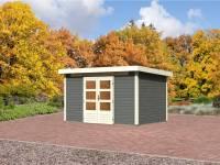 Karibu Aktions Gartenhaus Emden 7 in terragrau 28 mm