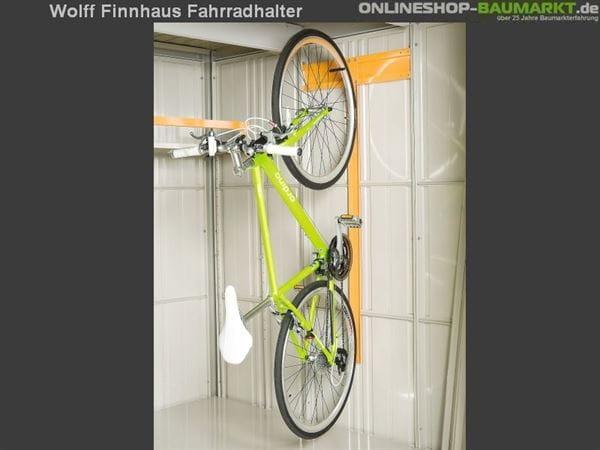 Wolff Finnhaus Fahrradhalter Wand 21 für Metall-Gerätehaus