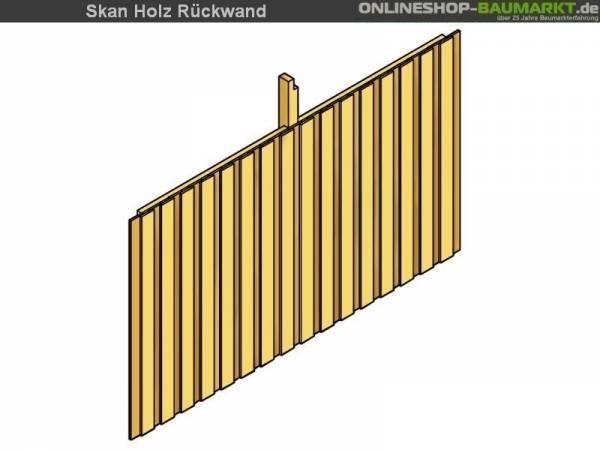 Skan Holz Rückwand für Carport 355 x 180 cm Deckelschalung