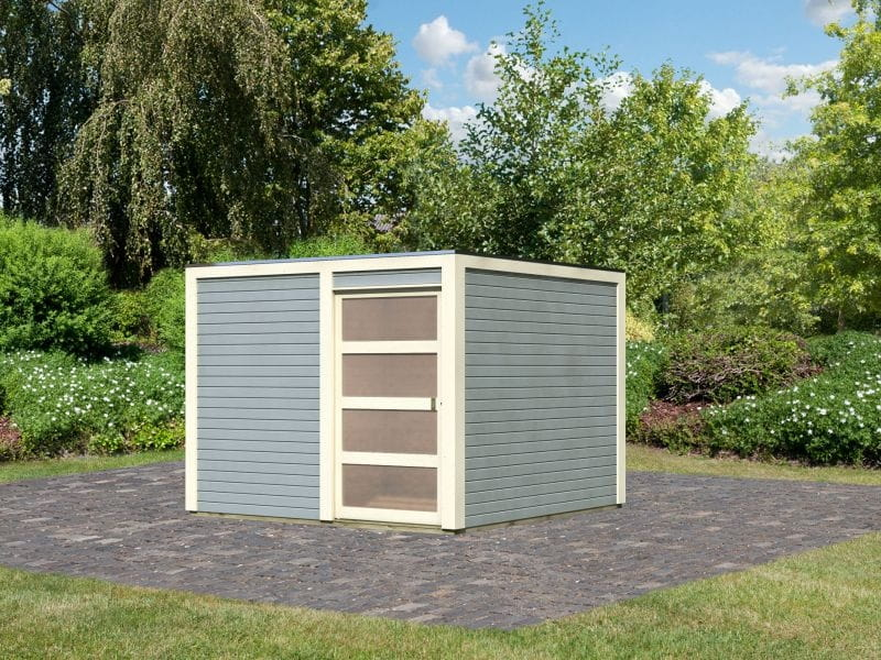 Fußboden Gartenhaus ~ Karibu gartenhaus bolton 2 seidengrau inkl. fußboden
