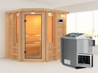 Cortona - Karibu Sauna Premium inkl. 9-kW-Bioofen