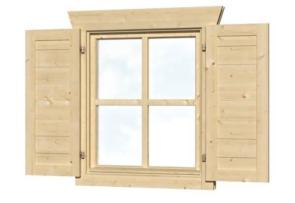 Skan Holz Fensterläden Einzelfenster beidseitig