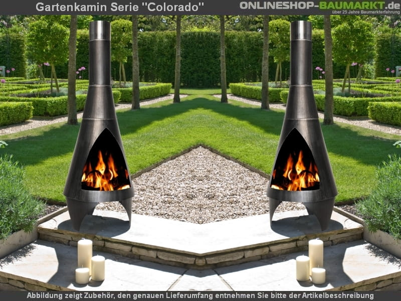 Buschbeck Gartenkamin Colorado Fur Warme Am Tag Und Ambiente In