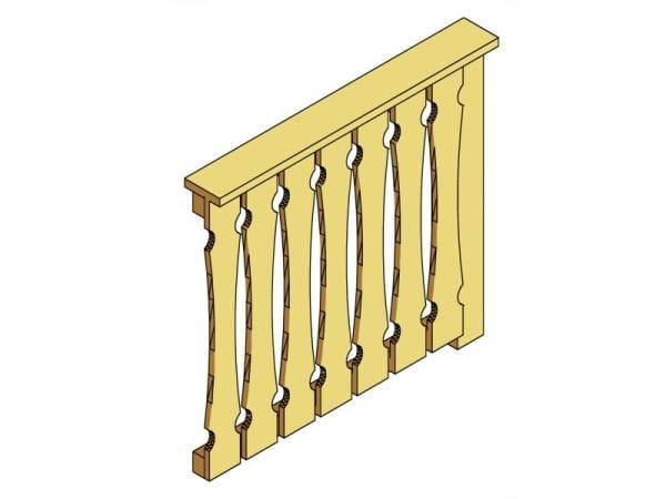 Skan Holz Brüstung für alle Pavillons Balkonschalung
