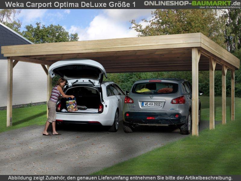 Weka carport 609 größe 1 kdi carport mit stabiler und einfach zu