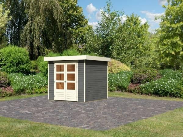 Karibu Woodfeeling Gartenhaus Askola 3,5 terragrau 19 mm