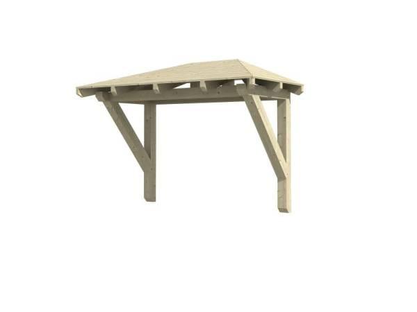 Skan Holz Vordach Wismar 1