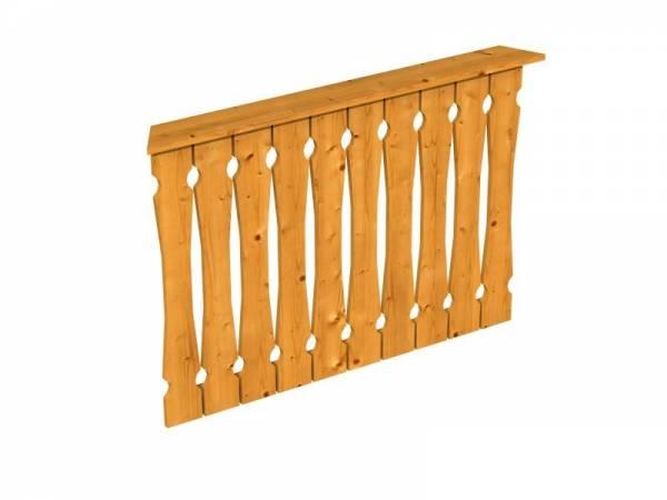 Skan Holz Brüstung für Pavillons 120 cm Balkonschalung in eiche hell