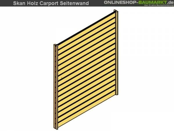 Skan Holz Seitenwand für Carport 141 x 200 cm Profilschalung