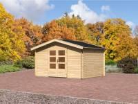 Karibu Aktions Gartenhaus Aurich 5 mit Dachschindeln und Fußboden