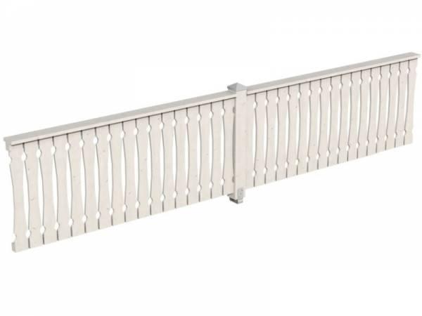 Skan Holz Brüstung für Pavillons 465 cm Balkonschalung in weiß