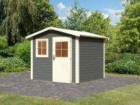 Karibu Woodfeeling Gartenhaus Mainau 4 terragrau