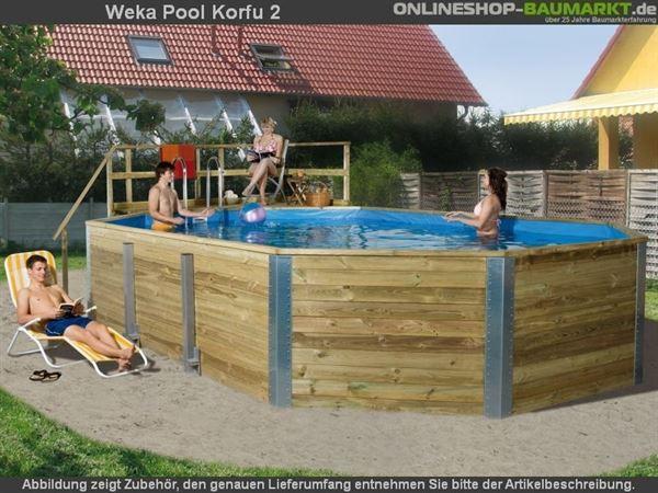 Weka Pool 594 A Komplettset inkl. Sandfilteranlage und Einhängeleiter