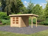 Karibu Woodfeeling Gartenhaus Bastrup 4 mit Schleppdach 2 Meter