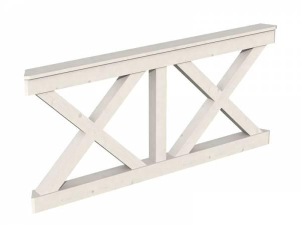 Skan Holz Pavillon Andreaskreuz-Brüstung 180 cm in weiß