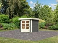Karibu Woodfeeling Gartenhaus Askola 2 terragrau 19 mm