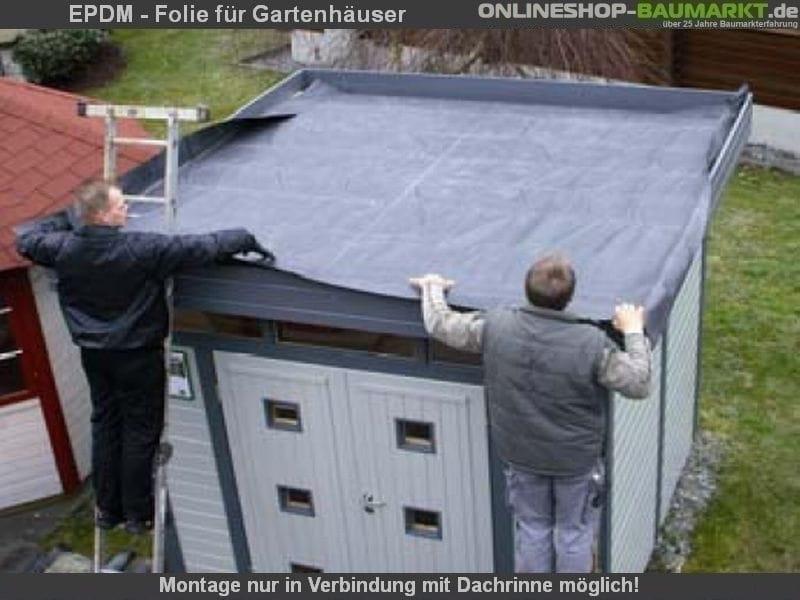 langlebige Dachabdichtung für Gartenhäuser.