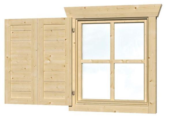 Skan Holz Fensterläden Einzelfenster einseitig