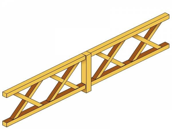 Skan Holz Brüstung für Pavillons 400 cm Andreaskreuz
