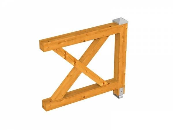 Skan Holz Brüstung für alle Pavillons Andreaskreuz in eiche hell