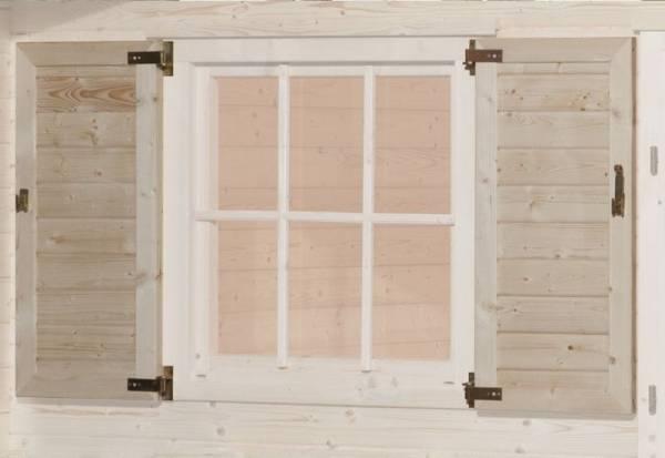 Weka Fensterladen 2-seitig für Fenster 69 x 79 cm