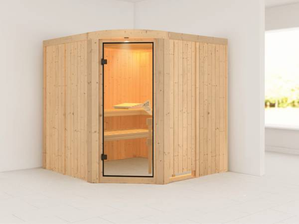 Aukura - Karibu Sauna ohne Ofen - mit Rundbogen -