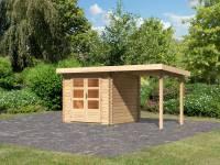 Karibu Woodfeeling Gartenhaus Bastrup 2 mit Schleppdach 2 Meter