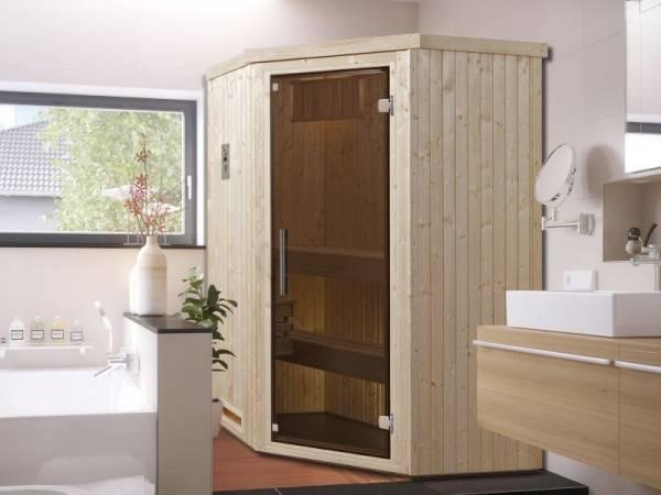 Weka Elementsauna Kiruna Gr. 1 inkl. 3,6 kW Kompakt-Saunaofen mit integrierter Steuerung