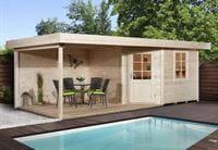 Weka Gartenhaus 5-Eck-Haus 213 Gr 1 natur Anbau 300 cm