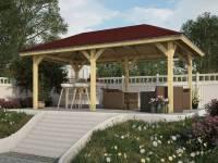 Karibu 4-Eck Pavillon Classic Bergen 2 kdi