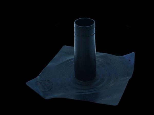 Folienflansch aus EPDM - für Fallrohre aus Kunststoff und Metall, Durchmesser 78 mm