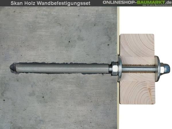 Skan Holz Wandbefestigungsset für Terrassenüberdachungen mit 648 cm Breite