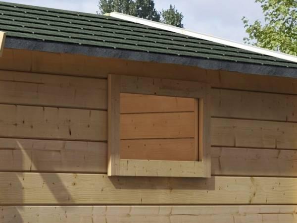 Karibu längliches Fenster elfenbeinweiß für 28 mm feststehend