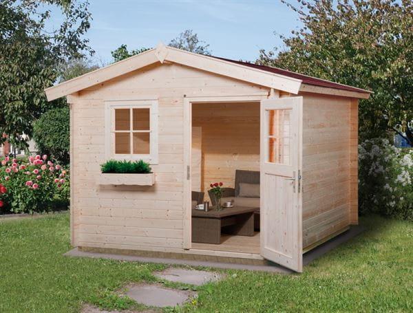 Weka Gartenhaus 106 Gr 1 Vordach 20 cm 28 mm