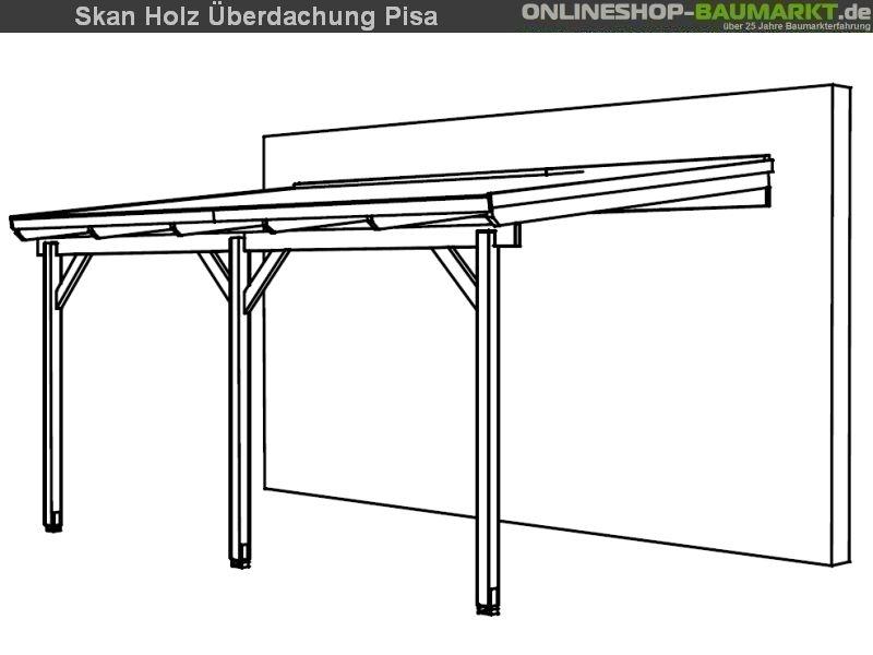 Skan Holz Terrassenüberdachung Pisa 500 x 300 cm