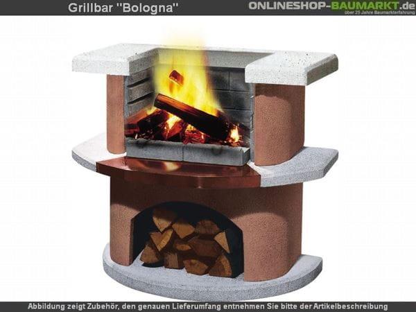 Buschbeck Gartengrillbar Bologna weiss / terracotta