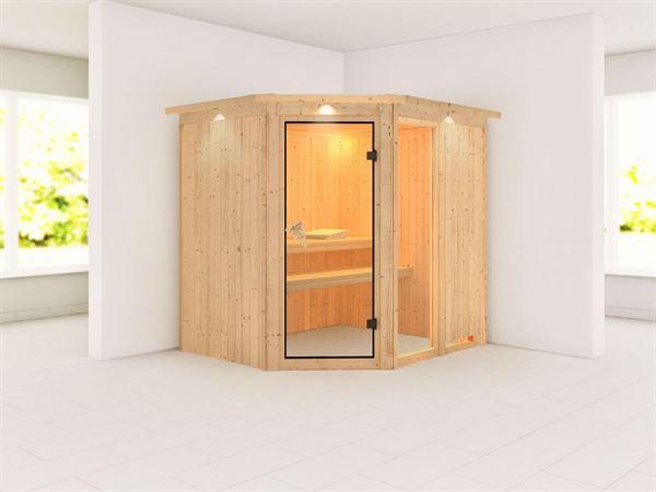Fiona 2 - Karibu Sauna ohne Ofen - mit Dachkranz -