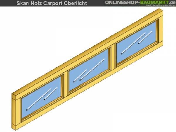Skan Holz Oberlicht für Carports, 147 x 30 cm