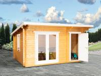 Wolff Finnhaus Pultdachhaus Trondheim 44-D XL 2-Raum fichte