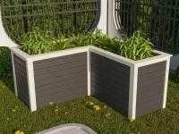 Karibu Hochbeet L Form terragrau 19 mm
