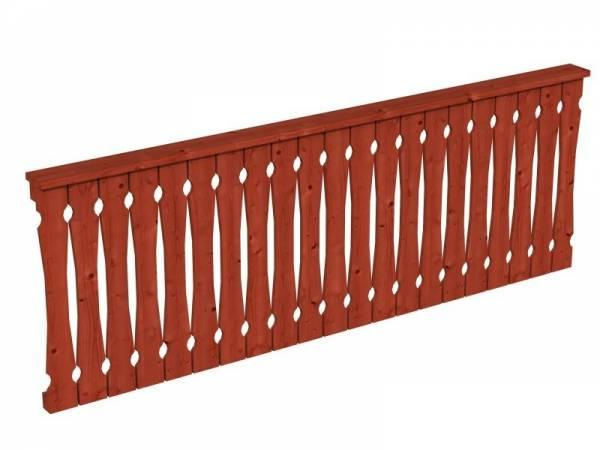 Skan Holz Brüstung in mahagoni für Pavillon 270 cm Balkonschalung