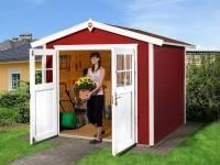 Weka Gartenhaus 224 Größe 3 mit Doppeltür schwedenrot