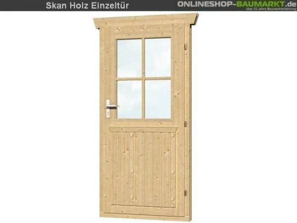 Skan Holz Einzeltür halbverglast 45 mm