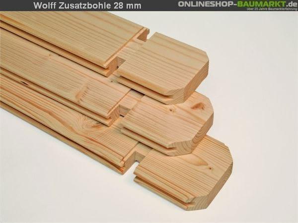 Wolff Finnhaus Zusatzbohle 28 mm je lfm.