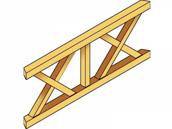 Skan Holz Brüstung für Pavillons 210 cm Andreaskreuz