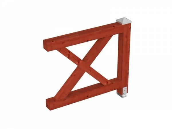 Skan Holz Brüstung für alle Pavillons Andreaskreuz in mahagoni