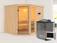 Fiona 3 - Karibu Sauna inkl. 9-kW-Bioofen - ohne Dachkranz -