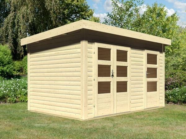 Karibu Woodfeeling Gartenhaus Schönbuch 1 38 mm 2-Raum-Haus