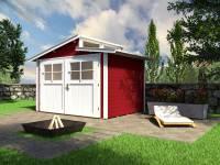 Weka Gartenhaus 226 Größe 2 schwedenrot
